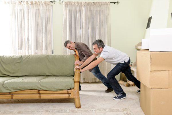 Отодвинуть мебель от стен