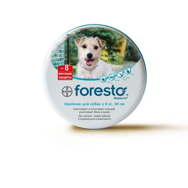 Ошейник Foresto для собак весом менее 8 кг