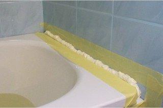 Герметизация швов пеной в ванной