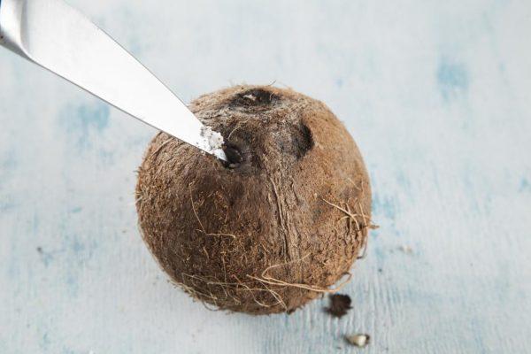 Отверстие в кокосе