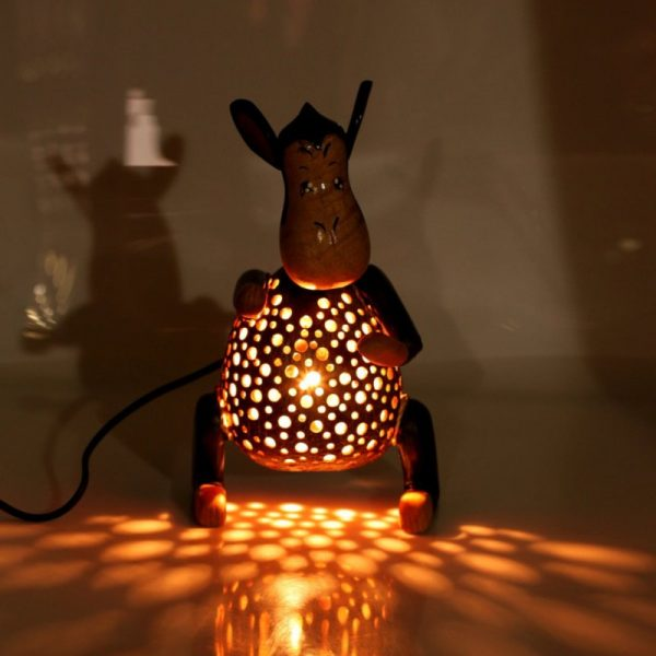Светильник из кокосовой скорлупы