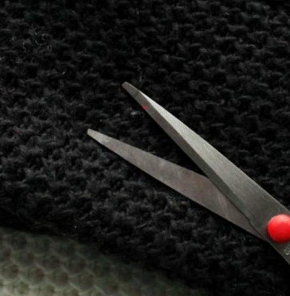 Избавление от катышков с помощью ножниц