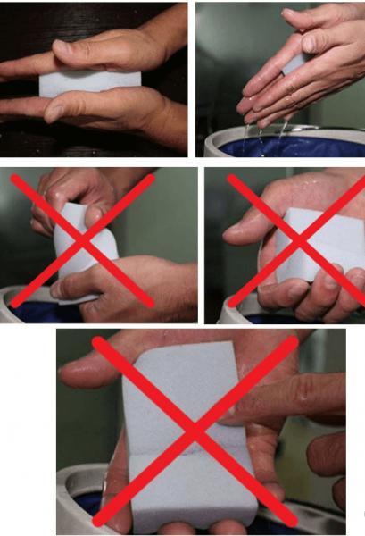 Правильные и неправильные способы отжима меламиновой губки