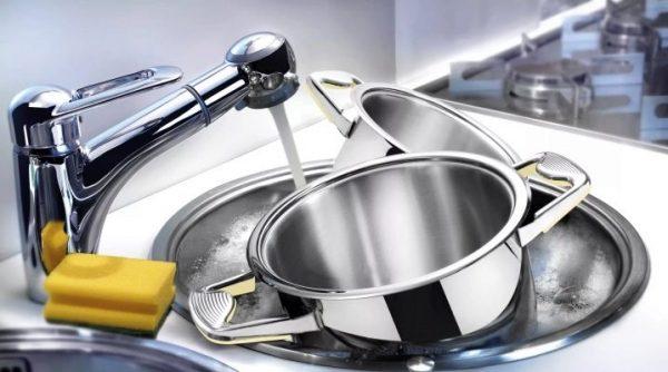 Замачивание посуды