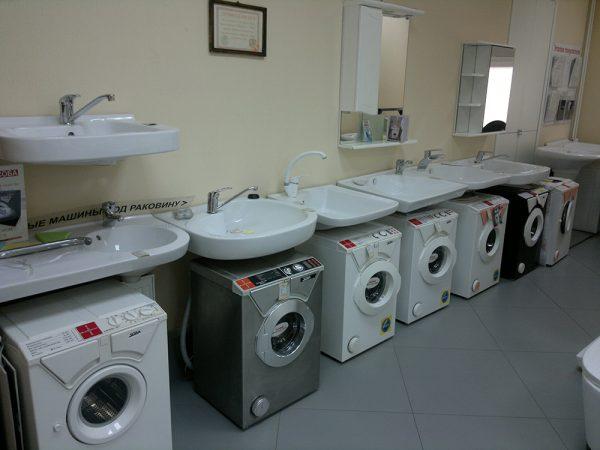 Комплекты из раковины-кувшинки и стиральной машинки