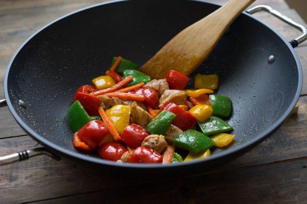 Приготовление еды в вок