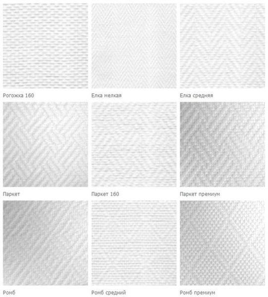 Примеры орнаментов стеклообоев