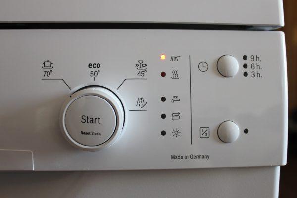 Механическая панель управления посудомоечной машины
