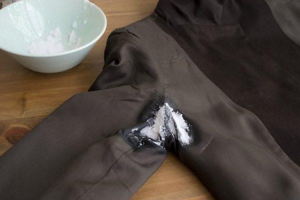 Выведение запаха пота с одежды
