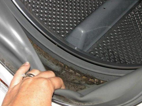 Плесень под резинкой барабана стиральной машины