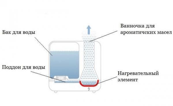 Устройство парового увлажнителя воздуха