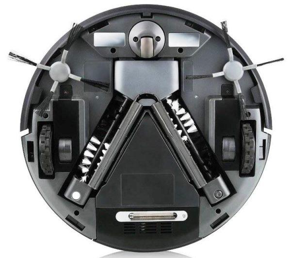 Пылесос-робот, осуществляющий уборку при помощи силы всасывания и двух независимых турбощёток