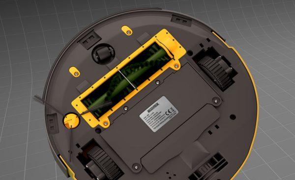 Пылесос-робот, осуществляющий уборку посредством силы всасывания и турбощётки