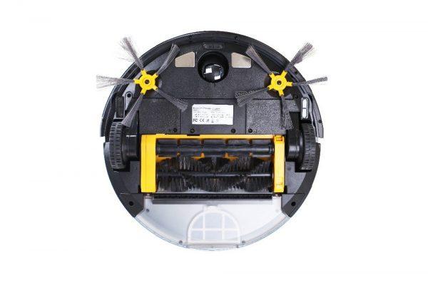Пылесос-робот, осуществляющий уборку при помощи двойной турбощётки и силы всасывания