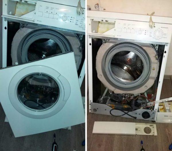 Разобранная стиральная машинка