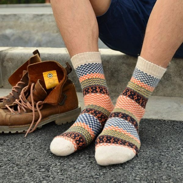 Толстые шерстяные носки