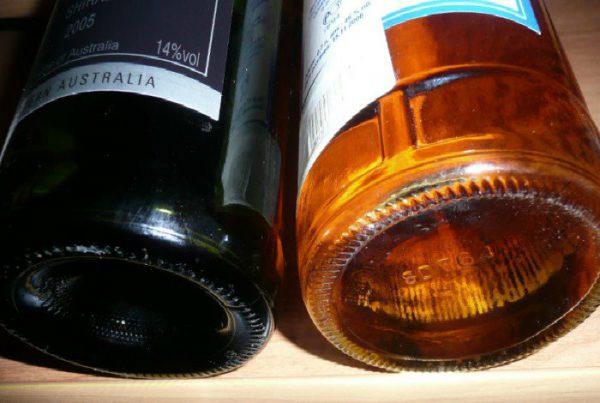 Вогнутое дно бутылок