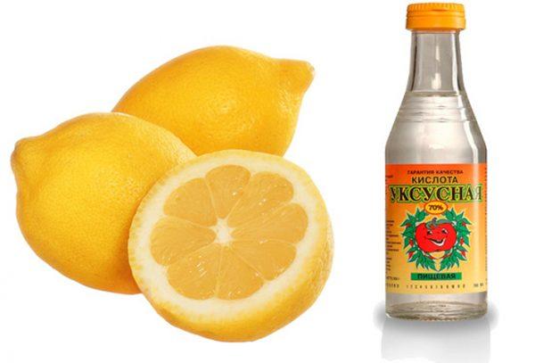 Лимонная и уксусная кислота — домашние растворители