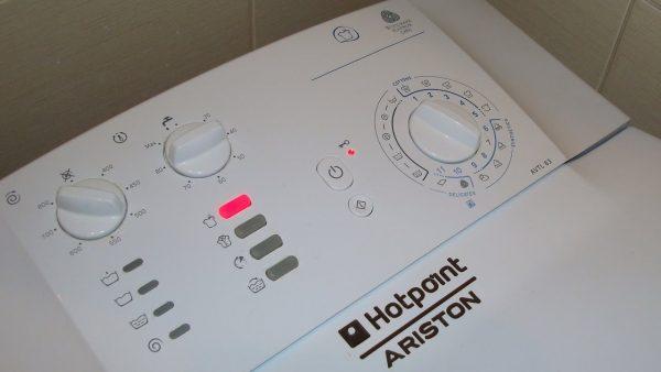 Панель управления стиральной машины с вертикальной загрузкой