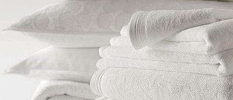 Белые полотенца