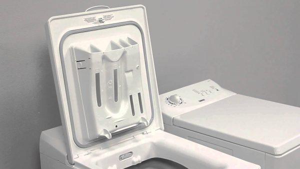 Ёмкости для стиральных средств в машине с вертикальной загрузкой