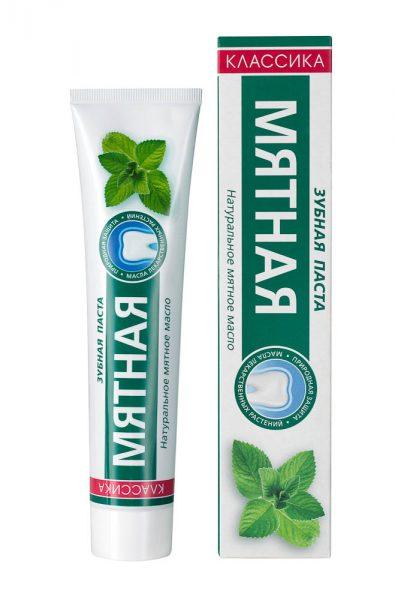 Мятная зубная паста