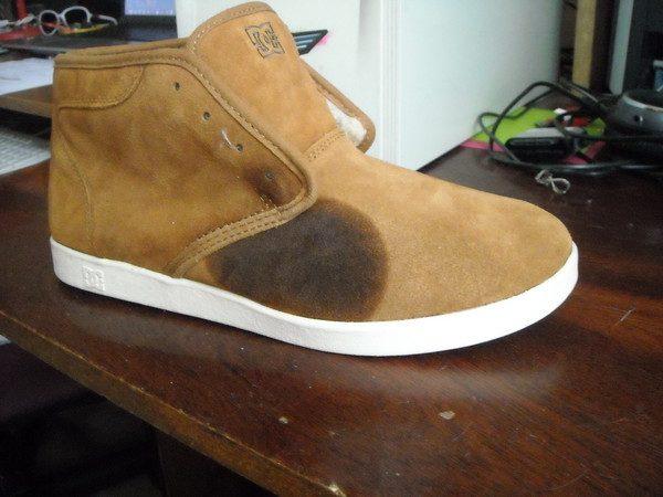 Жирное пятно на обуви