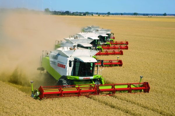 Современная уборка зерновых культур