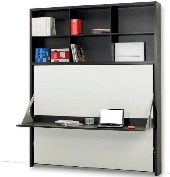 Стол-кровать: трансформер, встроенный в полноценный шкаф