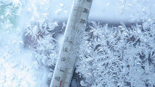 Минусовая температура на градуснике