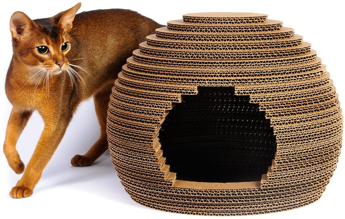 Домик для кошки и кота своими руками: материалы и пошаговая инструкция с фото