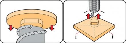 Крепление боковых деталей к столбику
